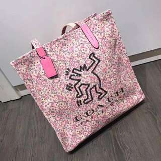 Coach x keith haring tote bag