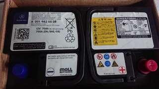 正廠benz 70A 電池