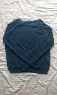 Blue knit sweater/ cardigan