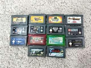 Original authentic nintendo gameboy advance games gba