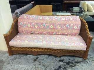 (UBT) 3Seater Sofa Rattan Cushion