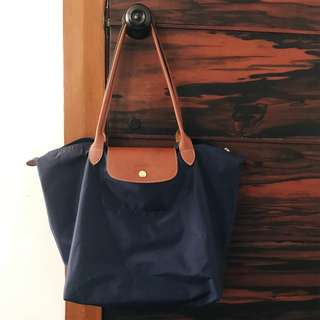 Longchamp Le Pliage Tote Bag (LARGE) in Navy