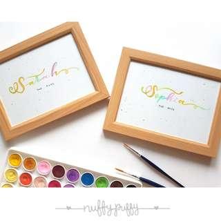 Calligraphy Custom Name (Size 5R)