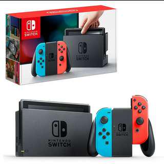Brand New Nintendo Switch Neon Colour with. Year Warranty