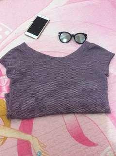 2-way wear purple top