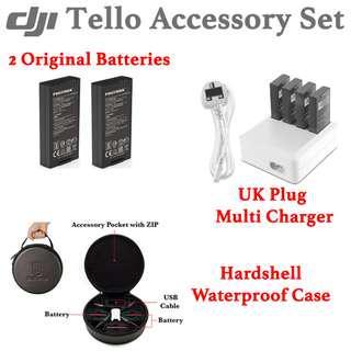 *SALE* DJI Tello Accessory Set (2 Batteries, Multi Charger, Hardshell Waterproof Case)