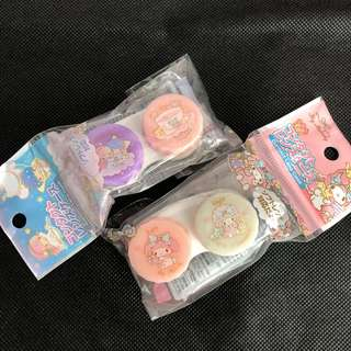 Little twin star OR My melody Japan Original Contact Holder Lens