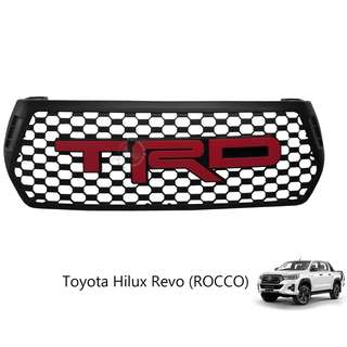 TOYOTA HILUX REVO ROCCO 2018 (TOT-002) FRONT GRILLE WITH RED WORDING (TRD)