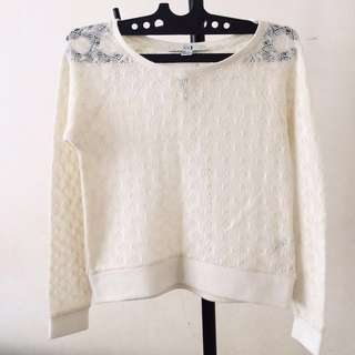 REPRICE! F21 Laces Sweater