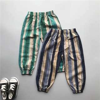 🚚 预购 [夏季薄款防蚊褲] [日系] 男童花色收腳長褲