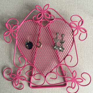 Cute Pink Earring Organizer