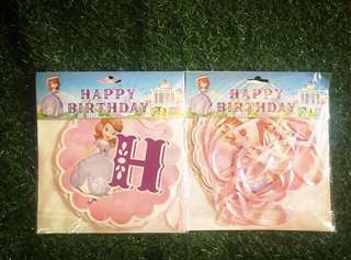 Happy Birthday Banner Sofia the First