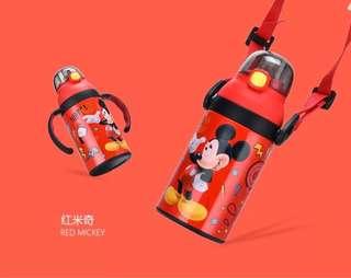 🚚 预购 [迪士尼] [米老鼠]兒童水壶 (帶吸管 手柄 保溫)