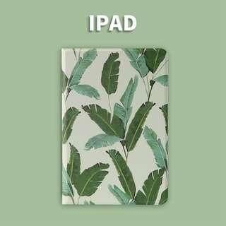免郵2018新款iPad保護套 iPad case 芭蕉葉清新風 加送玻璃膜