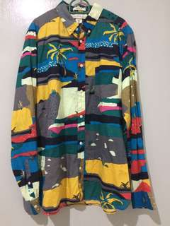 H&M Tropical Hawaiian Collar Shirt