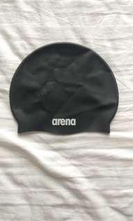 Black arena swim cap