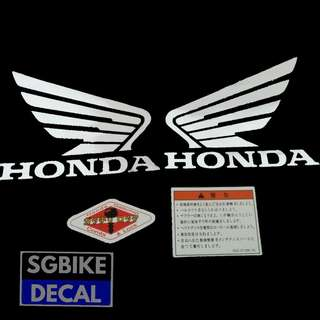 Chrome Honda Wing Decal set