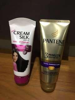 Pantene and Creamsilk Conditioner