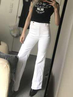High waisted Karen Walker denim jeans boot leg