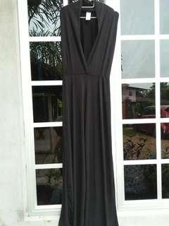 Long Black Dress Jumpsuit