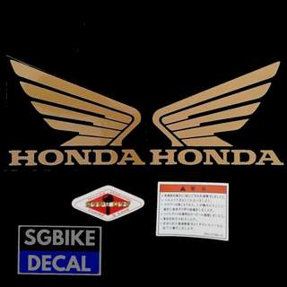 Matt Gold Honda Tank Decal Set