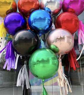 [Orbz] 16in/41cm Sphere Shaped Balloons (8 colors)