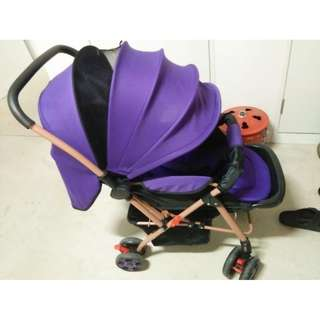 PURPLE BABY STROLLER / PRAM
