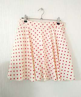 Heart Skirt with shorts underneath