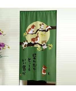 Feng Yahetang yarn Japanese bedroom living room curtain kitten.