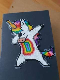 Unicorn Dab - card decoration/keychain