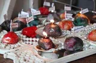 手製寶石純天然香薰蠟燭