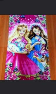 Barbie girl with lovely cat bath towel