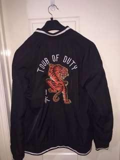 Tiger embroidered bomber jacket