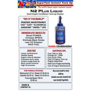 N2 PLUS QUICK ENGINE CONDITIONER TUNE UP