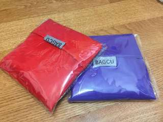 🚚 BAGCU輕便隨身摺疊防水購物袋(二入)