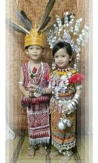 Baju tradisional iban for rent (girl only)