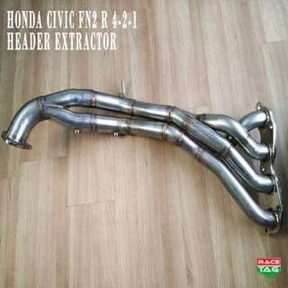 HONDA CIVIC FN2 Type-R HEADER 4-2-1 Fn2r 2.0 EXHAUST HEADER EXTRACTOR