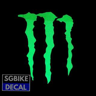 Green MonsterEnergy Reflective decal