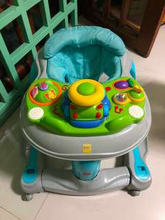 Baby Walker with instant rocking chair