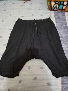 韓款深藍色低浪褲