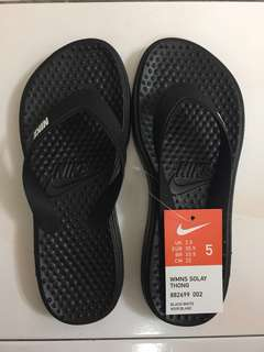 Black Nike Solay Thong Slippers US5/UK35.5