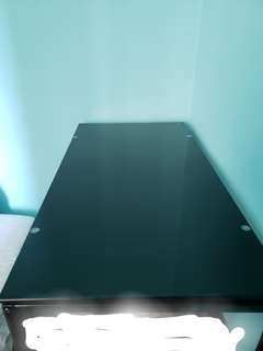 High glass table