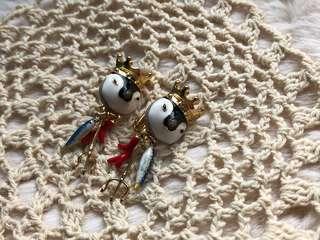 N2- 企鵝國王夾款耳環