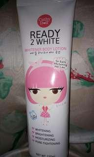 Ready 2 White Whitener Body Lotio  Cathy Doll Original