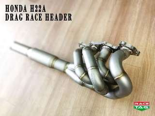 HONDA H22a DRAG RACE HEADER EXHAUST