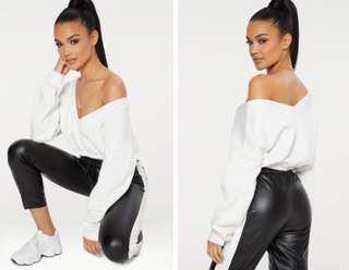 PLT off shoulder sweater