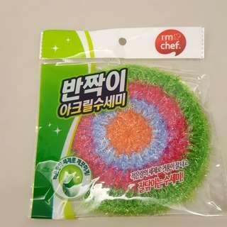 🚚 ⭐全新品 ⭐韓國原裝絲光纖維菜瓜布 / 環保清潔手工編織菜瓜布