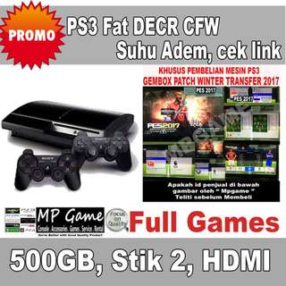 Garansi 3 Bulan Playstation 3 Fat / PS3 Fat 500gb LAN 2 DECR
