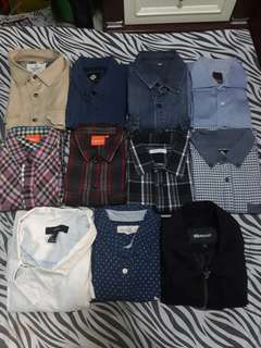 pre loved buttondown longsleeves , polo and jacket for men