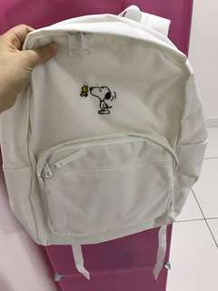 Korea SPAO x SNOOPY backpack